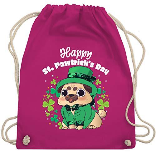 St. Patricks Day - Happy St. Pawtrick's Day - Unisize - Fuchsia - WM110 - Turnbeutel & Gym Bag