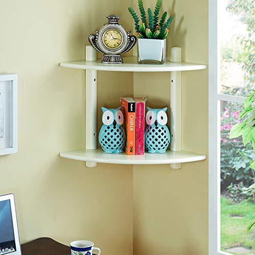 Bücherregal Wand Ecke Dekor Display Regal, Blume Stehen Massivholz Lagerung Organizer Rack, für Zuhause Schlafzimmer Wohnzimmer Büro (2 Farben) -