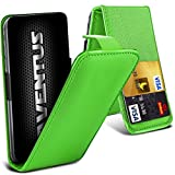 Aventus (Grün) ZTE Grand S3 Premium-PU-Leder Universal Hülle Spring Clamp-Mappen-Kasten mit Kamera Slide und Karten-Slot-Halter