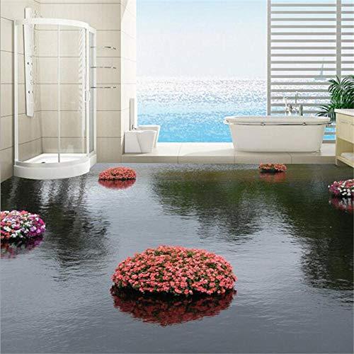 Fototapete 3D Effekt Custom Flooring 3D Schöne Aqua 3D Wohnzimmer Shopping Flooring Selbstklebende 3D-Bodenbelag Tapete 350X245Cm