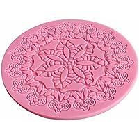 Molde de silicona para decoración de tartas de fondant, 12,5 x 12,