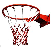 softneco Profesional Canasta De Baloncesto Interior Exterior,Colgado Baloncesto Aro para Niños Y Adultos,Montaje En Pared Aro De Baloncesto Y Net D