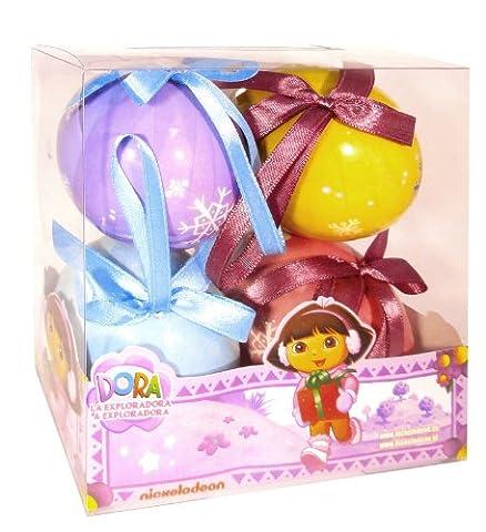 Dora Set de 4 Boules de Noel Dora
