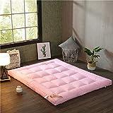 WYJHNL Matratze Dickes Daunenbett aus Baumwolle mit 4 Ankerbändern Tatami-Matratze für Boden und Bett,Rosa,180x200cm(71x79inch)