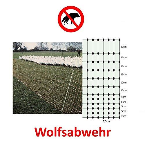 Göbel Weidezaun Elektrozaun Euro Netz Geflügel 25m lang 112cm hoch 9 Pfähle Doppelspitze enge Maschen