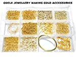 Goelx DIY Findings gold jewellery making accessories box- all basic gold jewellery materials with free storage box