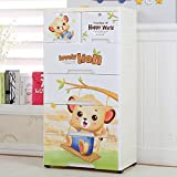 TheTickleToe Thickened Fiber Plastic Cartoon Chest of Drawers Toy Closet Wardrobe Organizer Kids Boy Girl Room Baby Nursery Decor DIY 5 Layers Drawers