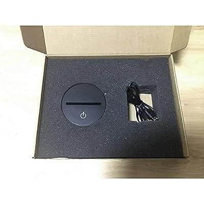LeaningTech STAR WAR Darth Vader 3D Visualisation Bulbling Chambre Lumière / Illusion Optique Lampe de Bureau / Lumineux Transparent Acrylique LED Lampe de Table pour Chambre à coucher Chambre à coucher Décor / Holiday cadeau d'anniversaire, Touch-Control