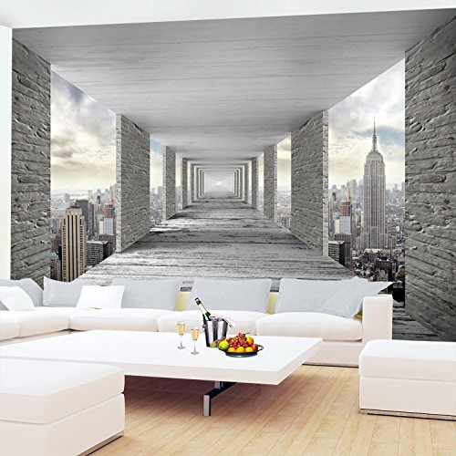 Fototapeten 3D New York 352 x 250 cm Vlies Wand Tapete Wohnzimmer ...