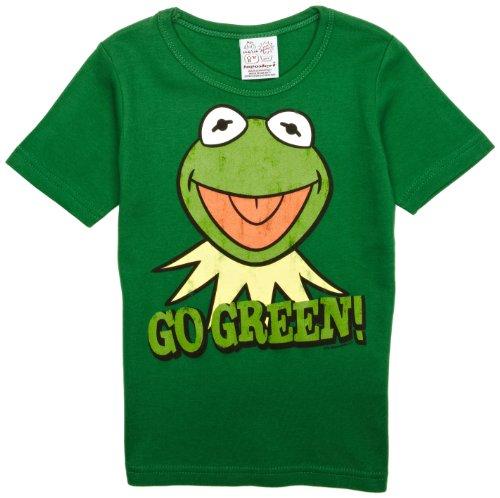 Muppet Show - Kermit der Frosch - Go Green T-Shirt Kinder - grün - Lizenziertes Originaldesign - LOGOSHIRT, Größe 80/86, 18 (Kermit Der Frosch Kostüm Kinder)