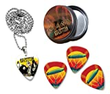 Led Zeppelin Collection With 3 Double Sided Loose Guitar Médiators Picks and Collier in Tin