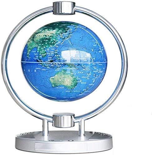 6 pulgadas de levitación magnética Globo con luces y audio Bluetooth levitación magnética del mapa del mundo Globo de escritorio Decoración Física Juguetes lámpara de mesa (Constelación de luz) yqaae