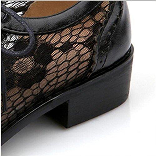 Closed-Toe Shoes Hollow traspiranti netto basso - tacco Sandali con scarpe basse black