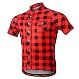 Homyl Damen Herren Fahrrad Trikot Radtrikot Fahrradbekleidung Outdoor Trikots für Reisen Bergstteigen Jogging Radfahren - M Rot