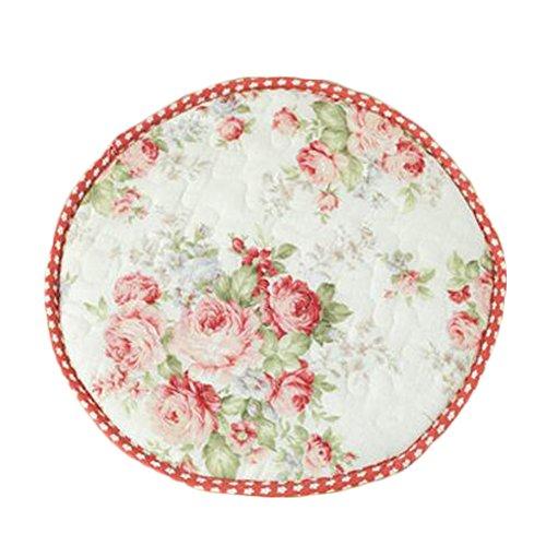 Japanische Art runde rutschfeste Stuhlkissen-Stuhl-Kissen-Sitzauflage, Pinke Blume