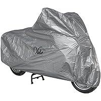 Telo Copri Moto Scooter Naked Customo Impermeabile PVC Universale Argento L