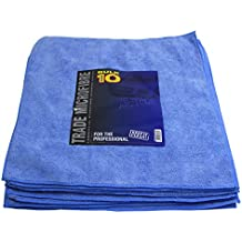Pack Of 10 Trade Pack Plush Microfibre Polishing Clothes 40x40cm Qty 10 In Blue