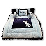 #5: PINKS & BLUES New Born Baby Full Sleeping Bedding Set with 2 Side Pillows in Shape of Puppies, 0 - 30 Months (Sky Navy)