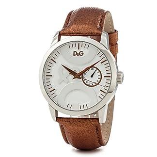 D&G Dolce & Gabbana DW0700 – Reloj para Hombres, Correa de Cuero Color marrón