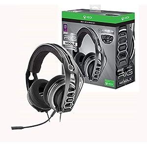 Plantronics Gaming Headset, RIG 400LX Gaming Headset für Xbox One mit Prepaid Dolby Atmos Aktivierungscode und LX1 Adapter enthalten