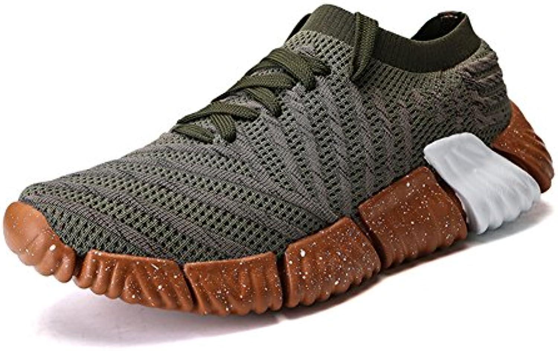 Toptak Herren Low Top Laufschuhe Athletic Turnschuhe Walking Sport Fitness Schuhe Grün