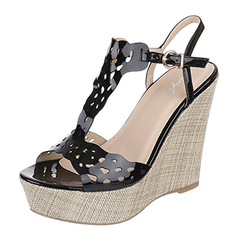 Ital-Design - Pantofole Donna Nero (nero)