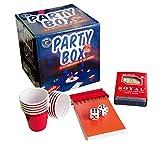 Original Cup - Party Box 30 Jeux de Soirée - 30 Règles de Jeux de Soirée - 10 Shooters Rouges - 1 Jeu de Carte - 2 Dés - 1 Bloc-Note - 4 Crayons à Papier - Jeu à Boire