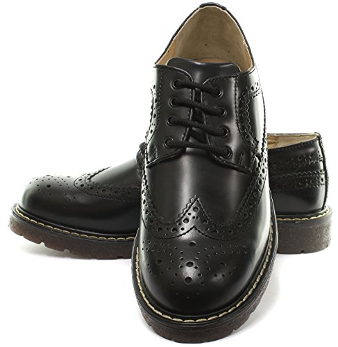 Grinders Bertrum Homme Brogue richelieu Mocassin Black