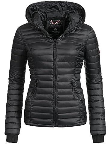 Navahoo Damen Jacke Übergangsjacke Steppjacke Kimuk (vegan hergestellt) Schwarz Gr. S