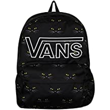 Mochila Vans – Realm Flying V Black Cat negro/blanco/amarillo