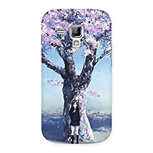 Unicovers Cherry Blossom Girl Back Case Cover for Galaxy S Duos