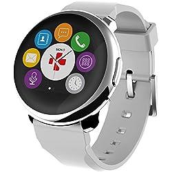 "MyKronoz BXMKZRW - Smartwatch de 1.2"" (Bluetooth, 300 mAh, TFT) color blanco"