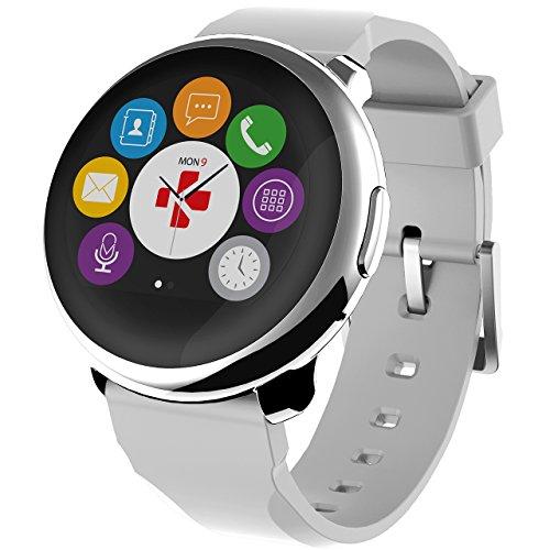 MYKRONOZ Uni Zeround Smartwatch Fitnesstracker, Silber-Weiss (Krzeround-Silverwhite)