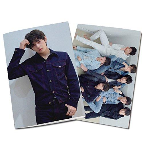 yovvin BTS Cuaderno, Kpop bangtan Joven Love Your Elf 24hojas Ordenador Portatil para notas y dibujar, mejor regalo para The Army, color V 13 x 9.5 cm