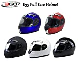 MOTORBIKE 3GO E35 FULL FACE HELMET Motorcycle Scooter Crash Racing Touring ECE ACU Approved Helmet (WHITE, L)