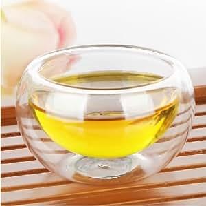 50ml en verre transparent à double paroi borosilicate thé/café tasse à expresso (Lot de 4)