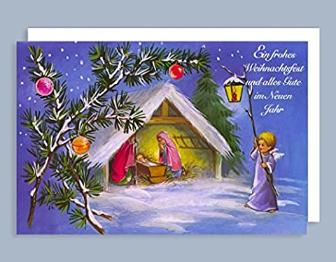 Weihnachten Karte Grußkarte Bewegliche Ausstattung Engelskind 17x11cm