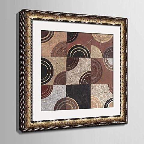modylee Abstract Patterns linoleum dipinti con pittura decorativa dipinti soggiorno tela pittura a olio, Gold,