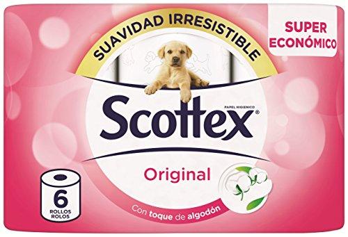 Scottex Original Papel Higiénico - 6 Rollos