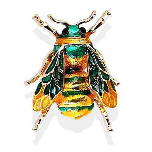 (Natürliche Insekten Tier Broschen Bee Alloy Pins Vintage-Schmuck Für Frauen)
