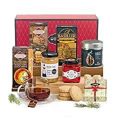 Idea Regalo - Hay Hampers, Tè o Caffè per Merenda? | Biscotti e Bevante Calde per la Pausa Inglese | Regalo Perfetto per Natale