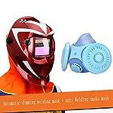 Moolo Maschera per saldature automatica Dimmer per saldatura completamente automatica Saldatore per saldatura ad arco Argon Arc anti-UV (Colore : 11)
