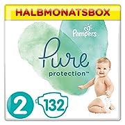 Pampers Pure Protection, Größe 2, 132 Windeln, 4-8 kg, Halbmonatsbox