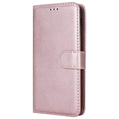 DENDICO Galaxy A6 Stand Hülle Etui, Leder Wallet Klapphülle Flip Book Case TPU Cover Ultra Slim...