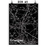 Mr. & Mrs. Panda Poster DIN A5 Stadt Erlangen Stadt Black -