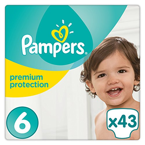 Pampers - Premium Protection - Couches Taille 6 (13-18 kg) - Pack Value+ (x43 couches)