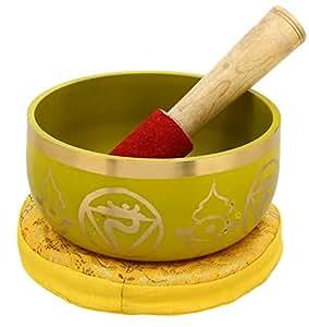 3rd Chakra-Manipura oder Solar-Plexus gelb buddhistische Klangschale für Meditation, 12,7 cm