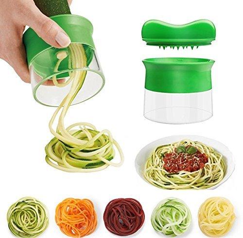 Vanserun tenuto in mano spirale di verdure, spirale affettatrice crea endless spaghetti tagliatelle, spirale di verdure e cutter, affettaverdure tagliaverdure
