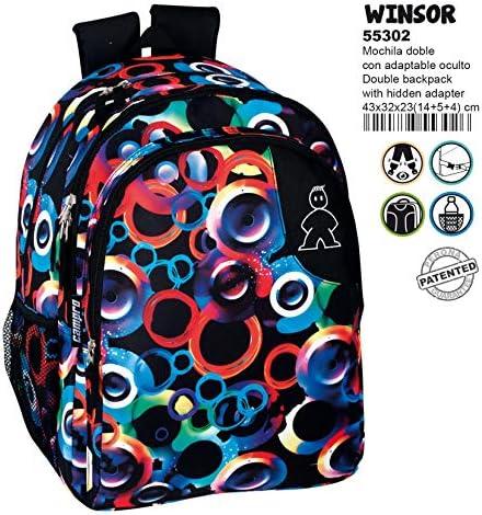 Montichelvo Montichelvo Double Backpack A.O. CMP Windsor Cartable, 43 cm, Multicolore (Multicolour) | Des Produits De Qualité,2019 New