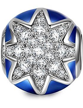 NinaQueen - Feuerwerk - Damen-Charm 925 Sterling Silber